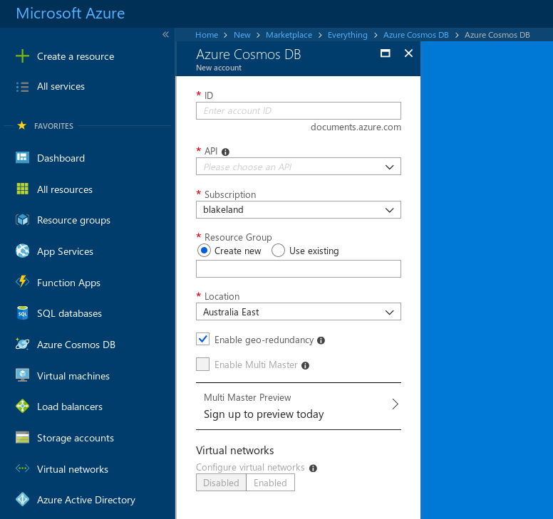 Getting started with Azure Cosmos DB